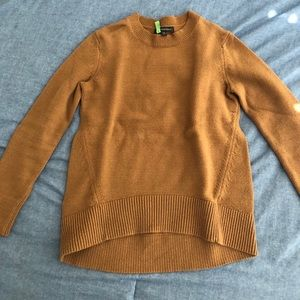 Brown scoop neck sweater